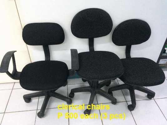 black clerical chairs photo