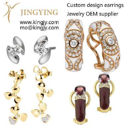 Customized silver earrings has a perfect after-sale and guarantee photo