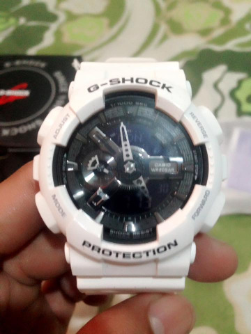 Gshock ga 110gw-7adr glossy white photo