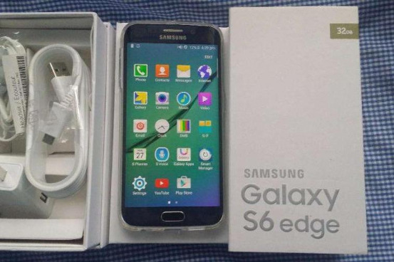 Samsung galaxy s6 edge openline 32gb black sapphire complete package photo