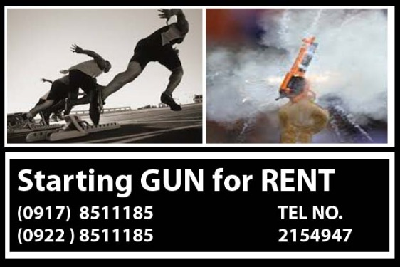 Starting Gun Rental Hire Manila Philippines photo