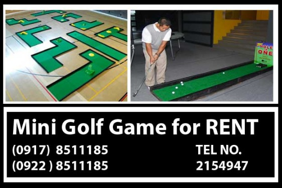 Mini Golf Games Rental Hire Manila Philippines photo