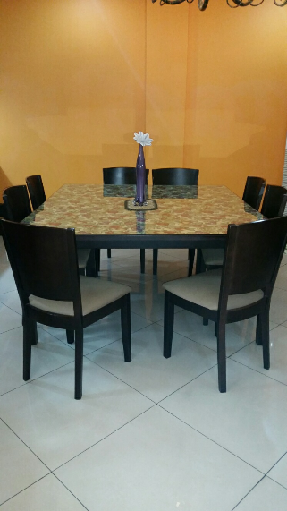 8 Seater Dining Table W Chair Mahogany Wood
