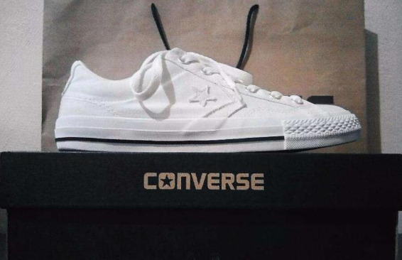 Converse White Sneakers Unisex photo