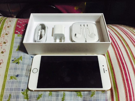 Iphone 6 plus 16gb gold smart locked complete photo