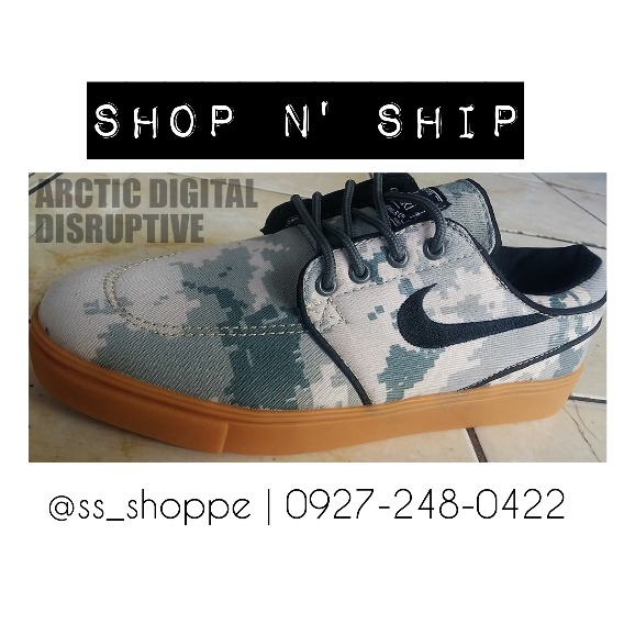 Nike Janoski Camouflage Shoes photo