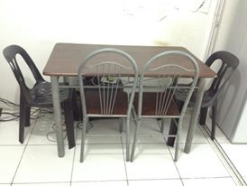 Dinning Table with 4 chairs photo