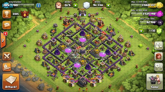 clash of clans th9 account photo