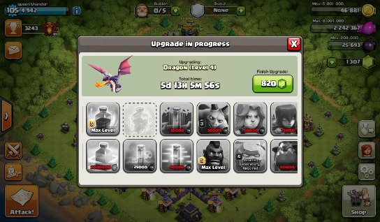 Clash of clans account th9 photo