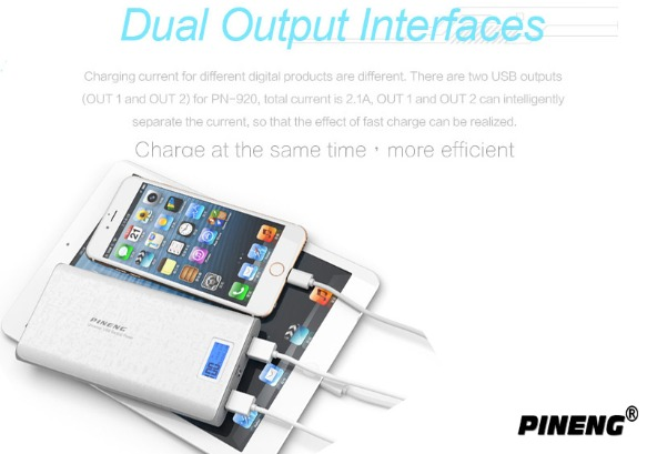 Pineng 20000mAh Power Bank With LCD Display photo