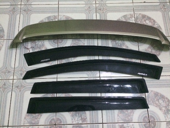 Spoiler & Window Visors Avanza 2014 photo