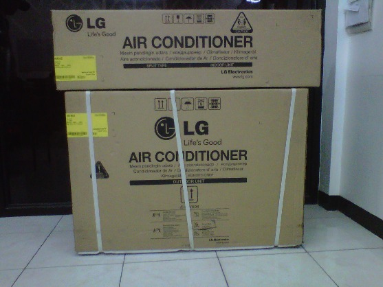 aircondition split type standard product brandnew with installation photo