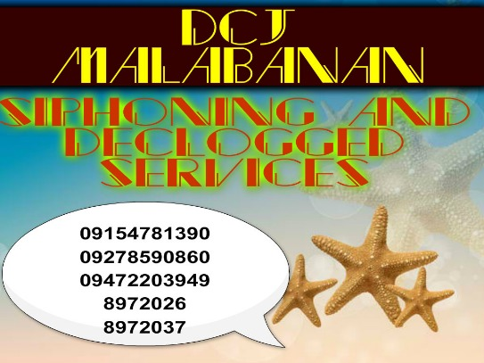 Dcj Malabanan siphoning services 09187664577 photo