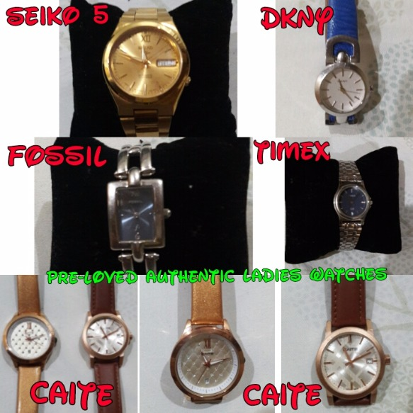 Pre-loved Authentic Ladies, Men's, and Couple Watches photo