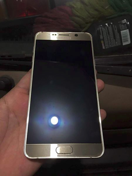 Samsung note5 gold photo