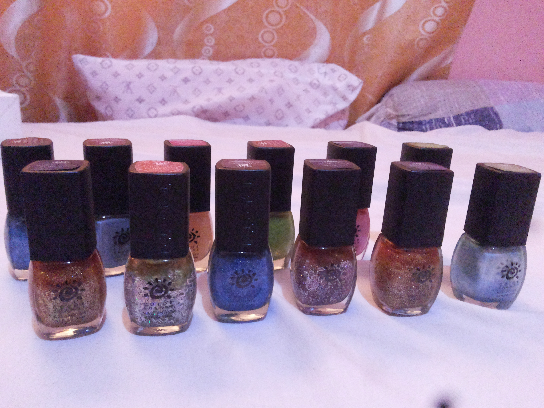 nail polish imported usa.change in color under the sun . photo