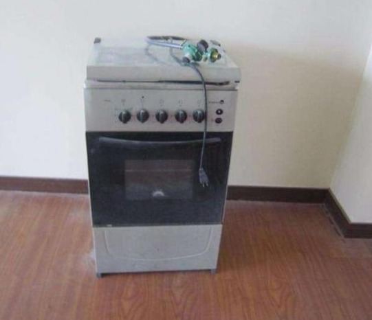 Fujidenzo 4-burner cooker with oven for sale photo