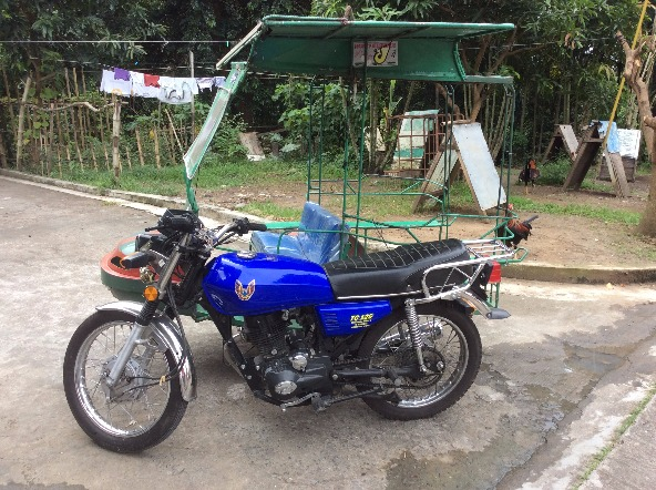 Motorbike for sale with side car photo