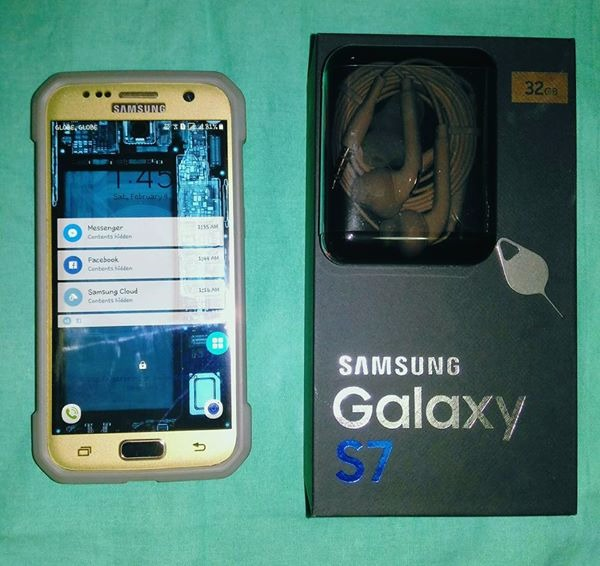 Samsung S7 Flat Gold image 1
