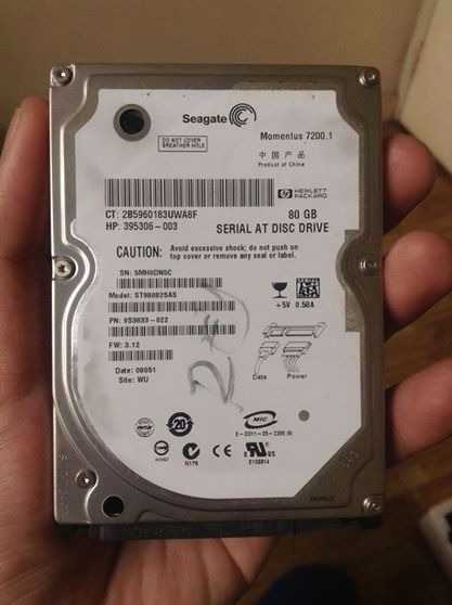 Seagate Momentus 7200 SATA 2.5 80GB Laptop Hard Disk photo