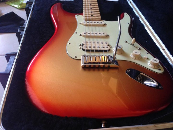 Fender American Deluxe Strat HSS- Sunset Metallic photo