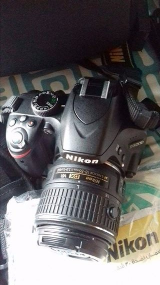 nikon dslr d3200 with mwu wifi, usb cable, charger and dslr bag photo