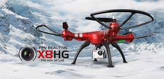 Syma X8HG RC Drone-RED, Barometer Set Height, 8MP Camera photo