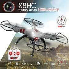 SYMA X8HC 2.4GHZ 4CH RC DRONE RTF-GOLD WITH 2 MPCAMERA photo