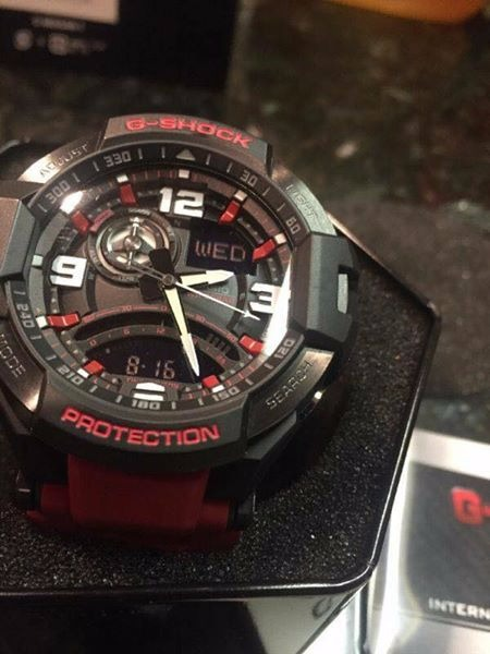 Ga 1000 Red and Orange Aviator G shock photo