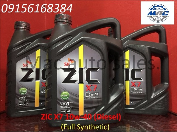 ZIC X7 10w-40 Fully Synthetic [ API CI-4/SL ] 6Ltrs FOR DIESEL photo