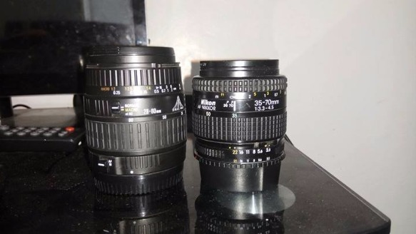 Canon 28-80mm f/3.5-5.6 and Nikon AF Zoom-Nikkor 35-70 mm f/3.3-4.5 photo
