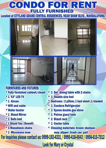 Condo Unit for Rent photo