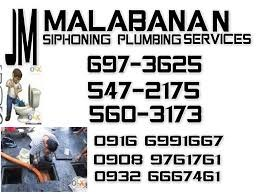 JM MALABANAN SIPHONING PLUMBING SERVICES 697-3625 photo