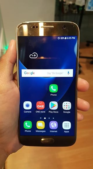 Samsung S7 64gb gold makinis photo