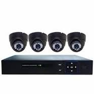 isafe cctv 8 channel 4 dome type inddor camera photo