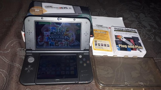 New nintendo 3ds xl black complete photo