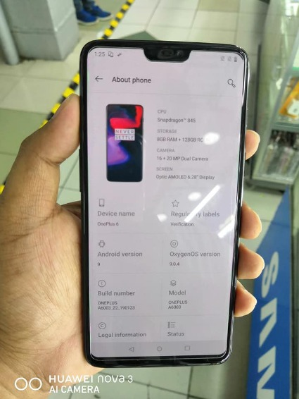 Oneplus 6 Mirror Black 128gb/8gb photo