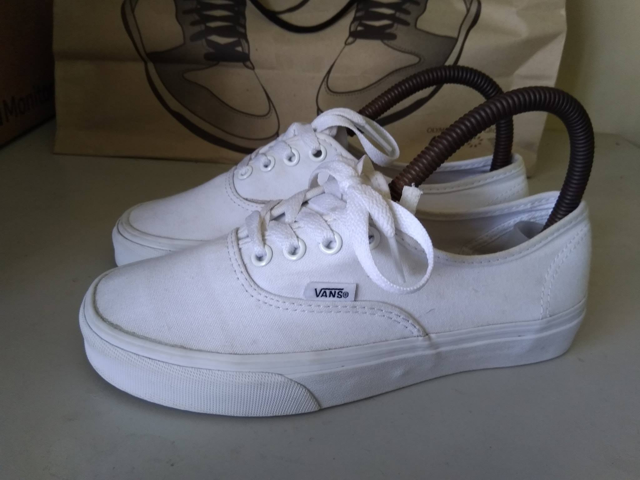 Vans Authentic white legit shoes photo