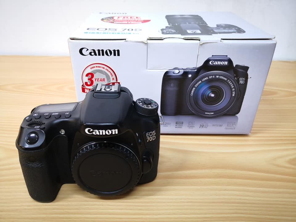 Canon 70D body flipscreen photo