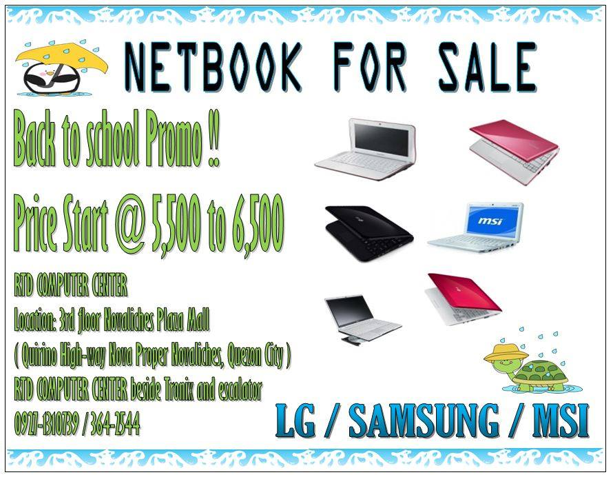 NETBOOK BACK TO SCHOOL PROMO photo