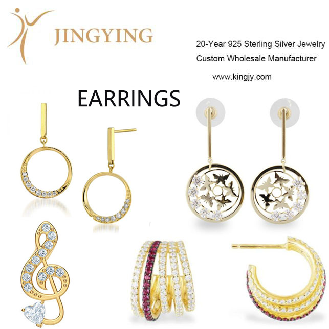 925 sterling silver earrings fine jewelry wholesale manufacturer photo