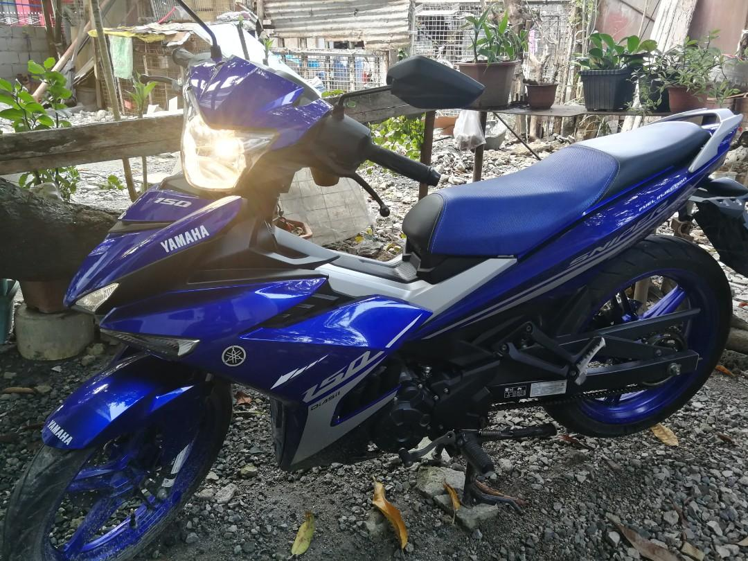 yamaha sniper 150 race blue 2018 photo