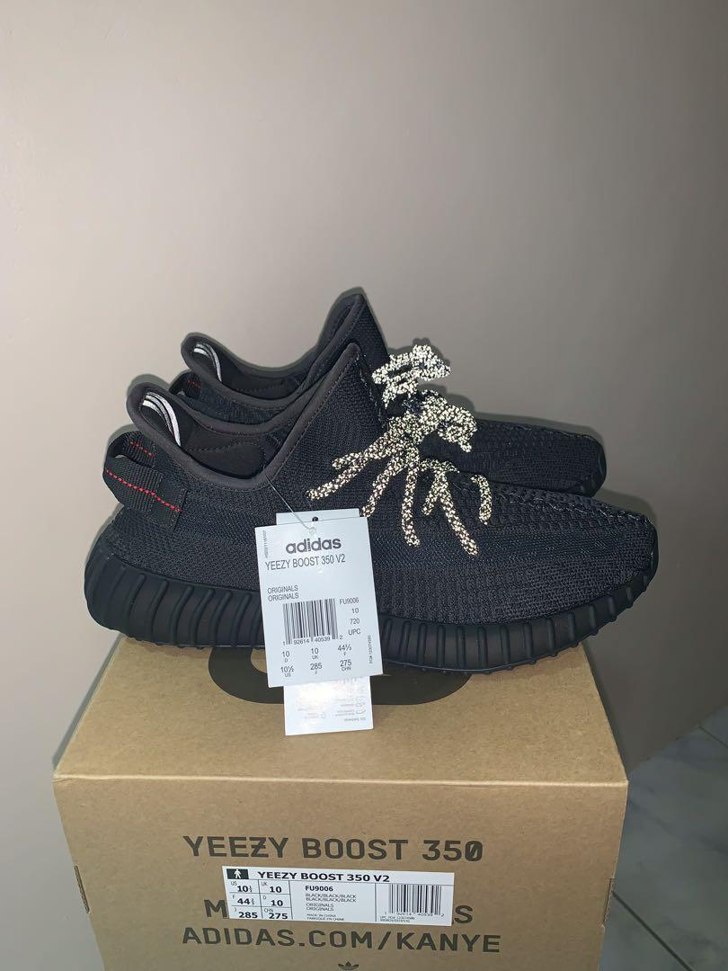 Adidas Yeezy 350 v2 Black Static Non Reflective US 10.5 photo