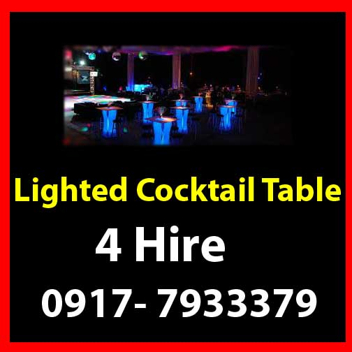 Lighted Cocktail  Table Rent Hire Manila Philippines photo
