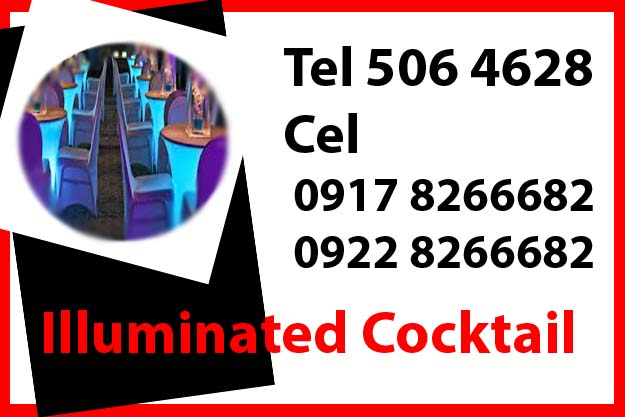 Illuminated Cocktail Table  Rent Hire Manila Philippines photo
