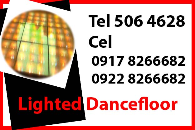 Lighted Dance Floor Rent Hire Manila Philippines photo