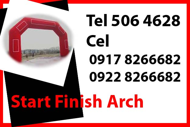Start Finish Arch Rent Hire Manila Philippines photo