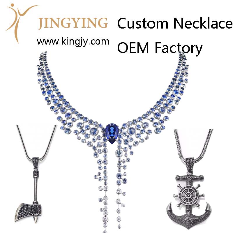 Custom necklace gold plated silver jewelry supplier and wholesaler photo