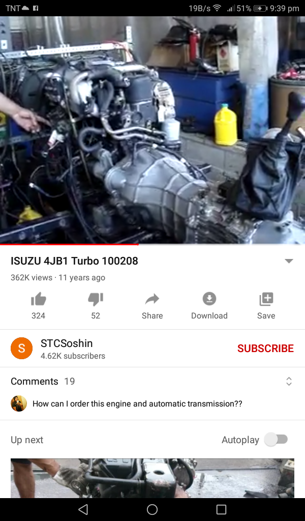 Kung yung unit niya meron 4jb1 turbo engine with transmission .... bubunutin lang naman yung engine at ilipat sa ford explorer photo