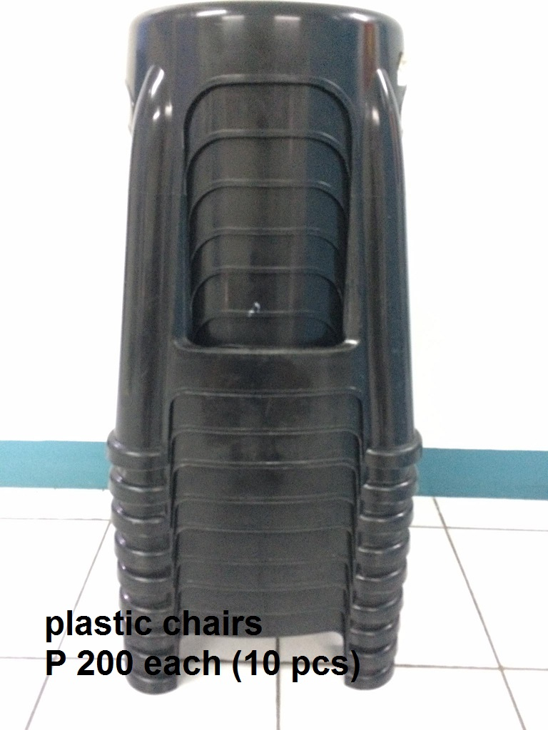 black plastic stool photo